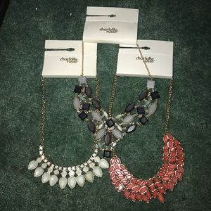 3 brand new necklaces